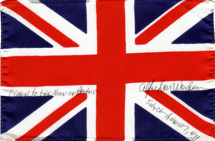 Apollo 15 fLOWN UK flag