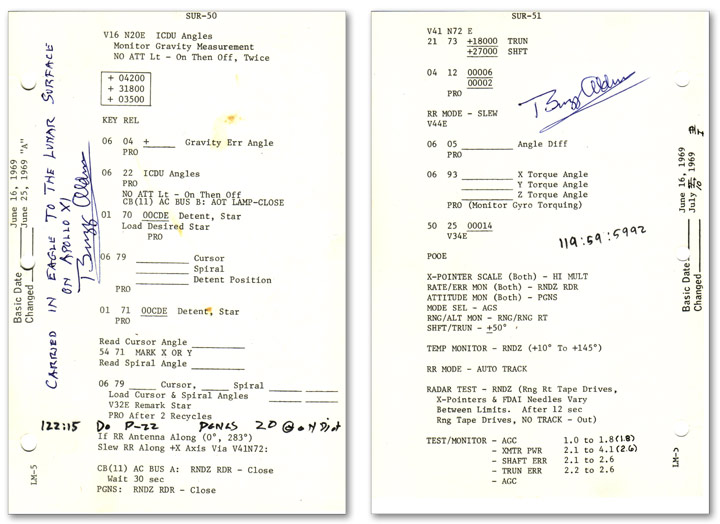 Apollo 11 Lunar Surface Checklist