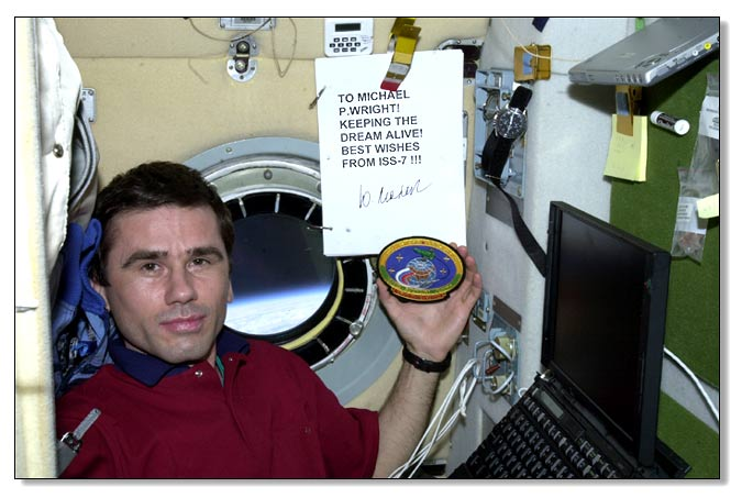 Yuri Malenchenko greetings from space